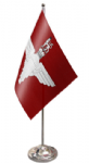 Parachute Regiment Desk / Table Flag with chrome stand and base